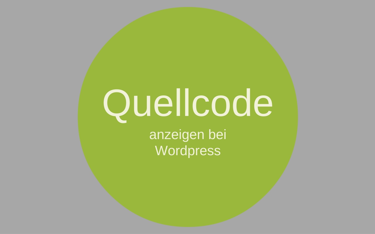 wordpress-quellcode-anzeigen