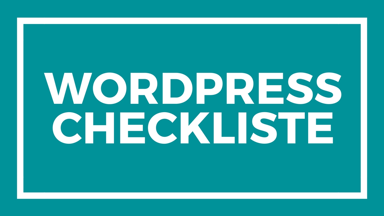wordpress-checkliste